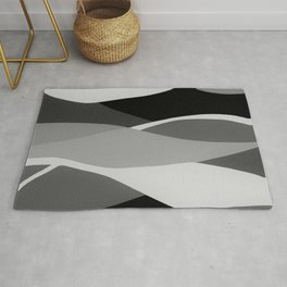 Gray and Pewter Waves Rug