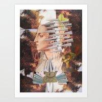 iron maiden Art Prints featuring Laura The Iron Maiden by MELANCHOLIE (mit MONSTERN)