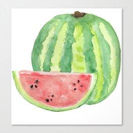 Watermelon Watercolour  Canvas Print