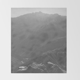 Top of the Rockies B&W Throw Blanket