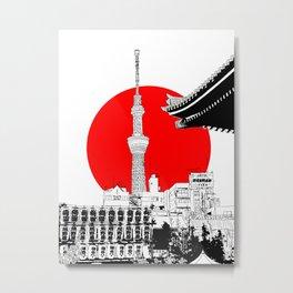 tokyo skytree red dot 1 Metal Print