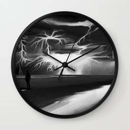 Storm (Digital Art) Wall Clock