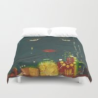 gatsby Duvet Covers featuring Gatsby by Julia Lopez