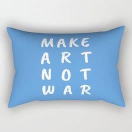 Make Art Not War (Blue) Rectangular Pillow