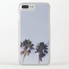 Florida Palm Trees Clear iPhone Case