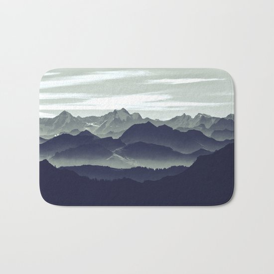 Mountains are calling for us Bath Mat