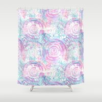 amelie Shower Curtains featuring Amelie {Pattern 2A} by Schatzi Brown