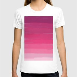 Lipstick: Shades of Pink Gradient Color Study T-shirt