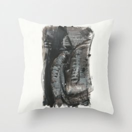 Black fantasy Throw Pillow