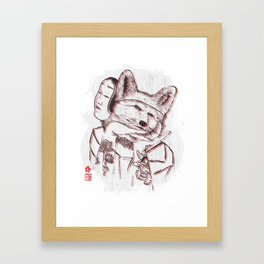 Kitsune Portrait Framed Art Print