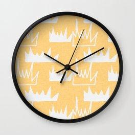 Safari - Bush Plant Yellow Wall Clock