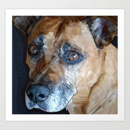 Mosley Dog Art Print