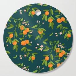Citrus Tree - Navy Cutting Board