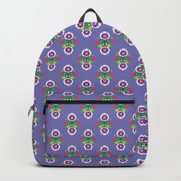 Folk - small composition on purple background Backpack