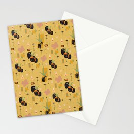 Mod Pineapples Stationery Cards