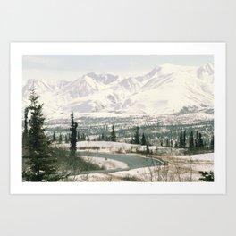 Alaska Roads Art Print