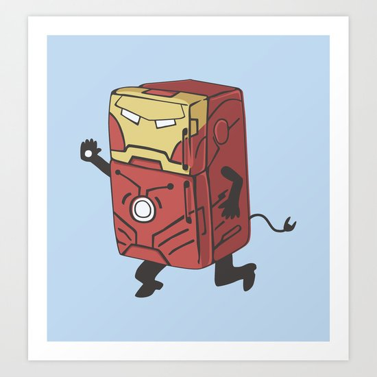 Refrig'r-Iron-Man Art Print