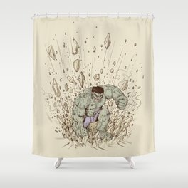 Hulk Smash Shower Curtain