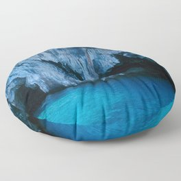NATURE'S WONDER #3 - BLUE GROTTO #art #society6 Floor Pillow