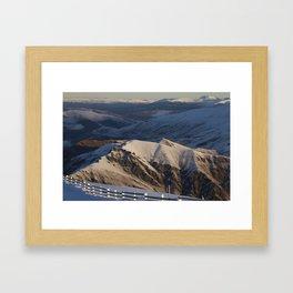 Cardrona Mountains Framed Art Print