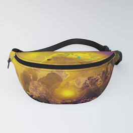 Unicorn In The Night Of Glow - My Fantasy Garden - #society6 Fanny Pack