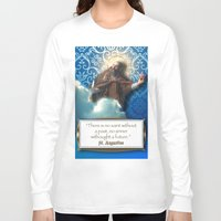 posters Long Sleeve T-shirts featuring Inspirational Posters/Cards by Regina Caeli Art
