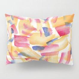180719 Koh-I-Noor Watercolour Abstract 5| Watercolor Brush Strokes Pillow Sham