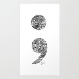 Patterned Semicolon #2 Art Print
