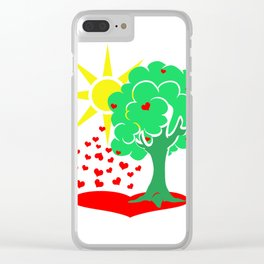 Tree Of Love Clear iPhone Case