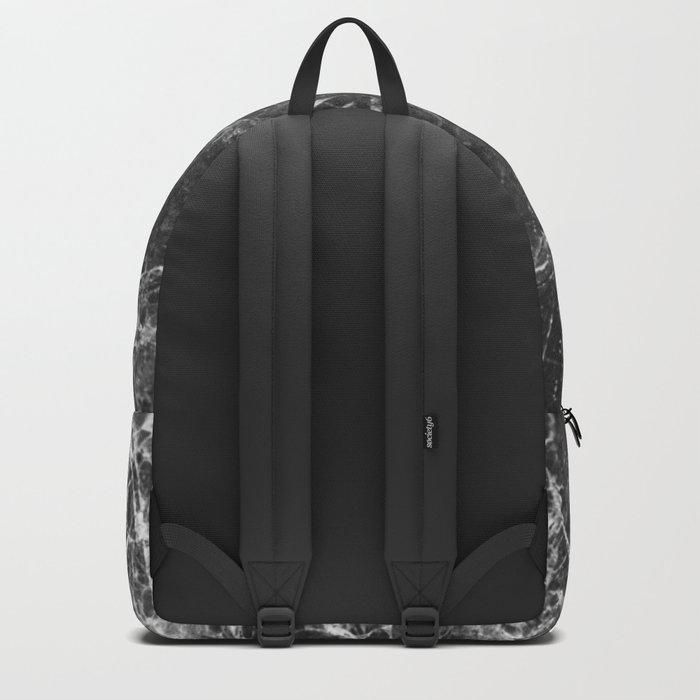 Black and White Marble Granite Backpack