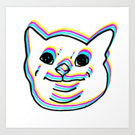 Polite Cat (CMYK) Art Print