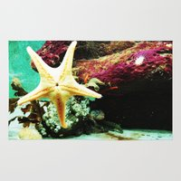 starfish Area & Throw Rugs featuring Starfish by Post Haste Art