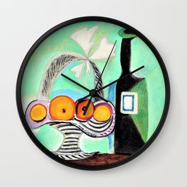 Pablo Picasso - Still Life with Oranges - Digital Remastered Edition Wall Clock