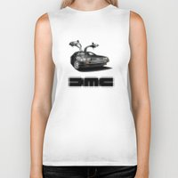 delorean Biker Tanks featuring Delorean exposed by SIMid
