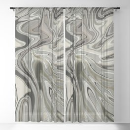 Lady born wild and free Sheer Curtain