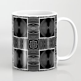Fenced Coins Tribal-Inspired Pattern Coffee Mug
