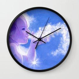 Snow Fairy Wall Clock