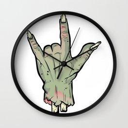 Zombie Devil Horns Undead Severed Hand Halloween T-Shirt Wall Clock
