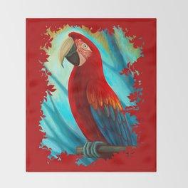 Technicolor Macaw Throw Blanket