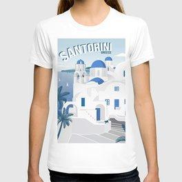 Vintage Santorini poster T-shirt