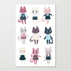 Adorable Fashion Kittens Canvas Print