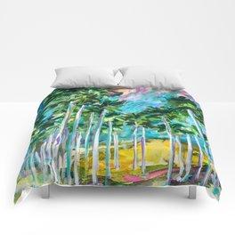 Field of Palms Comforters
