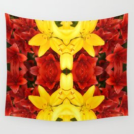 """""""A Gathering of Lilies"""" Remix - 1 (4-1) [D4465~12] Wall Tapestry"""