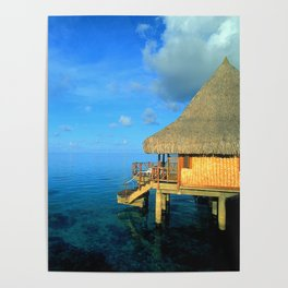 Over-the-Water Island Bungalow Poster