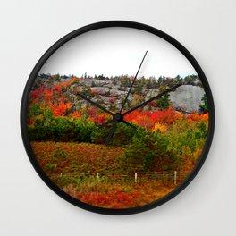 Rock Side Fall Colors Wall Clock