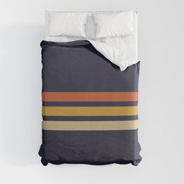 Vintage Retro Stripes Duvet Cover