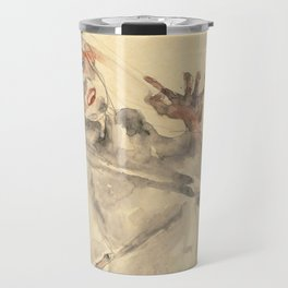 """Egon Schiele """"I Will Gladly Endure for Art and My Loved Ones"""" Travel Mug"""