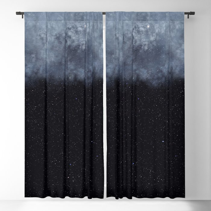 Blue veiled moon Blackout Curtain