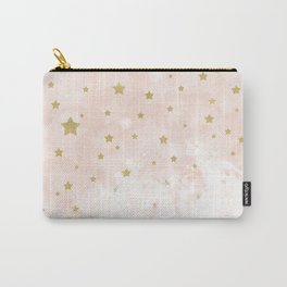 Gold stars on blush pink Carry-All Pouch