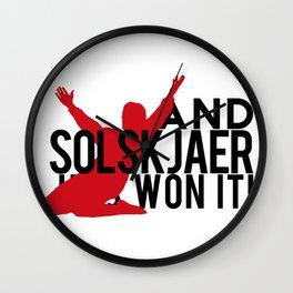 And Solskjaer Has Won It!  Wall Clock